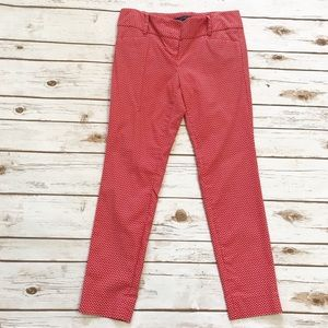 THE LIMITED Ideal Stretch Red white Ankle Pants